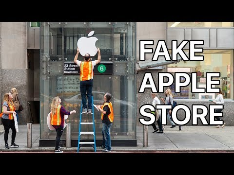 Even Fake Apple Stores Have Long Lines