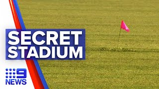 Secret identical stadium revealed in Queensland | 9 News Australia
