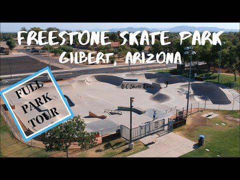 Freestone Skate Park Full Skate Park Tour Gilbert, Arizona (Phoenix)