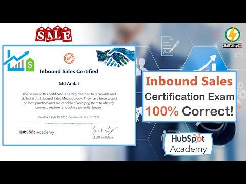 Inbound Sales Certified Exam Answers 2020 | HubSpot | Skillshop ...