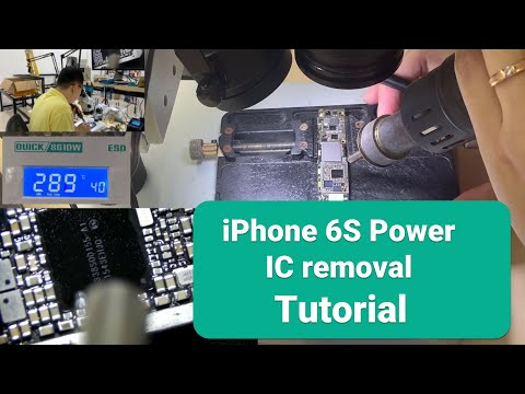 iPhone 6S Power IC replacement【Tutorial】 Online Course Logic board repair