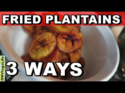 How to Make Fried Plantains - 3 Ways To Cut Nigerian Style