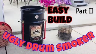 How to build and season an Ugly Drum Smoker - Part II.