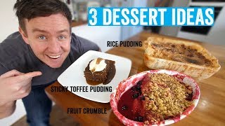 How to make a roast dinner #6 | 3 delicious desserts