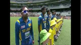 Sri Lankan National Anthem - Kanchana Sandamali @ The MCG