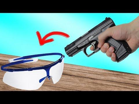 Experiment - Wie stabil ist eine billige Schutzbrille?