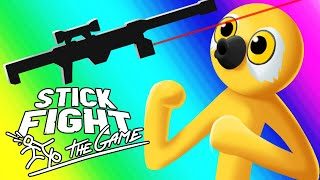 Stick Fight Funny Moments - Glitchy Nonsense and Snipers!