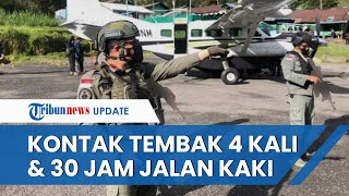 Berusaha Pukul Mundur KKB di Kiwirok, Satgas Nemangkawi 30 Jam Jalan Kaki & 4 Kali Kontak Tembak