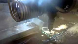 water jet cutting 1 inch glass