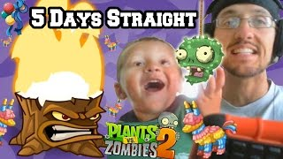 Lets Play PVZ 2 for 5 Days Straight! Pinata Party in September (Plants vs. Zombies iOS) Face Cam