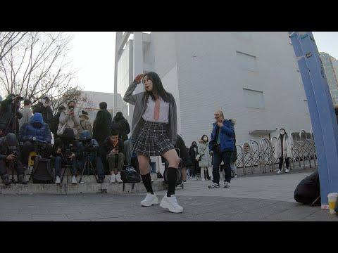 Chica | 청하 - 댄스팀 너의소녀 세인 홍대 버스킹 chulwoo 직캠(Fancam)