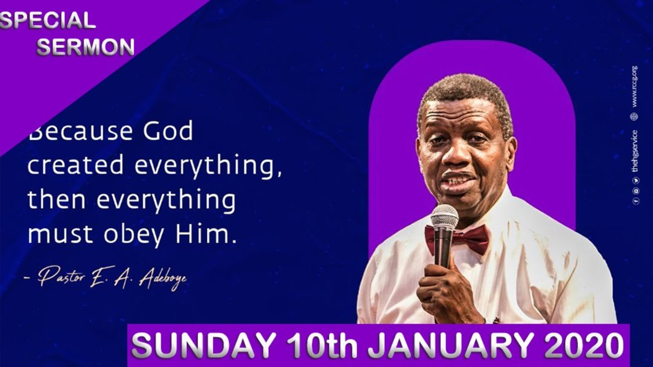 RCCG Sunday Service 10th January 2021 Live with Pastor E. A. Adeboye