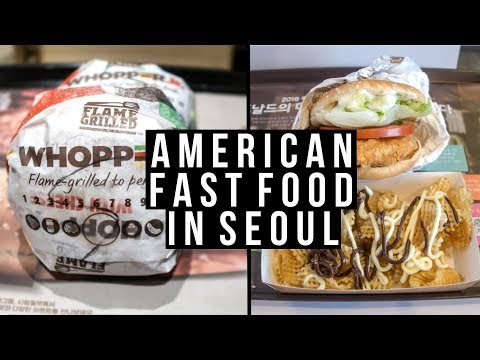 American Fast Food Review in Seoul – vlog #024