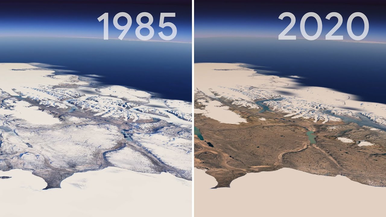 Google and Nasa publish an amazing passage of time on how Planet Earth has changed in 30 years