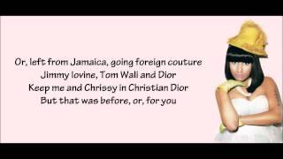 Nicki Minaj - WooHoo Verse Lyrics Video