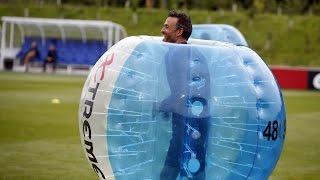 FC Barcelona bubble football: Players vs Staff