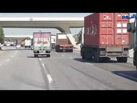 معاناة طريق ميناء الدمام .. تكدّس متكرر للشاحنات دون الوصول إلى حل