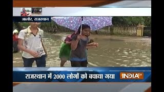 Monsoon 2017: Heavy rain disrupts life in Gujarat and Rajasthan, rescue operation continues
