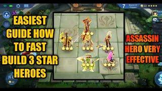 HOW TO MAKE 3 STAR HERO FAST IN MAGIC CHESS