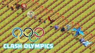 OLYMPIC GAMES !! 🔥 Which TROOP is FASTEST !! 🔥 Clash Of Clans