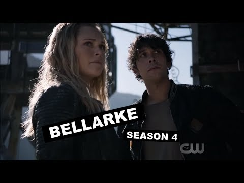 the 100 - all bellarke moments / season 4