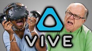 ELDERS REACT TO HTC VIVE (VR) - Video Youtube