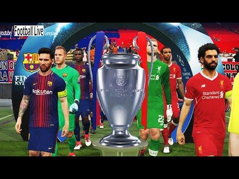 Pes 2018 uefa champions league final (fc barcelona vs real