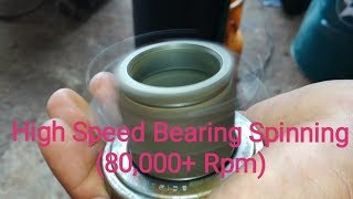 High Speed Bearing Spinning 80,000+ Rpm