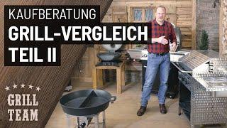 Großer Gasgrill Vergleich | Teil 2 | Oberhitze-Grills, Tischgrills, mobile Grills, Gastrobräter, etc