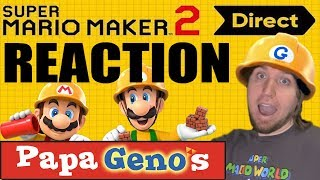 Super Mario Maker 2 Direct REACTION - PapaGenos