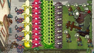 Plants vs Zombies 2 - Red Stinger, Banana Launcher, Sling Pea