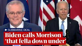 Joe Biden calls Australian prime minister Scott Morrison 'that fella down under'
