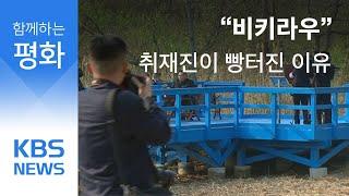 """""""비키라우"""" 남북 정상회담 취재진이 빵터진 이유는? / KBS뉴스(News)"""