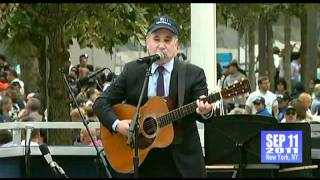 9-11 SOUND OF SILENCE ( best audio )  2011 Memorial NYC - Paul Simon