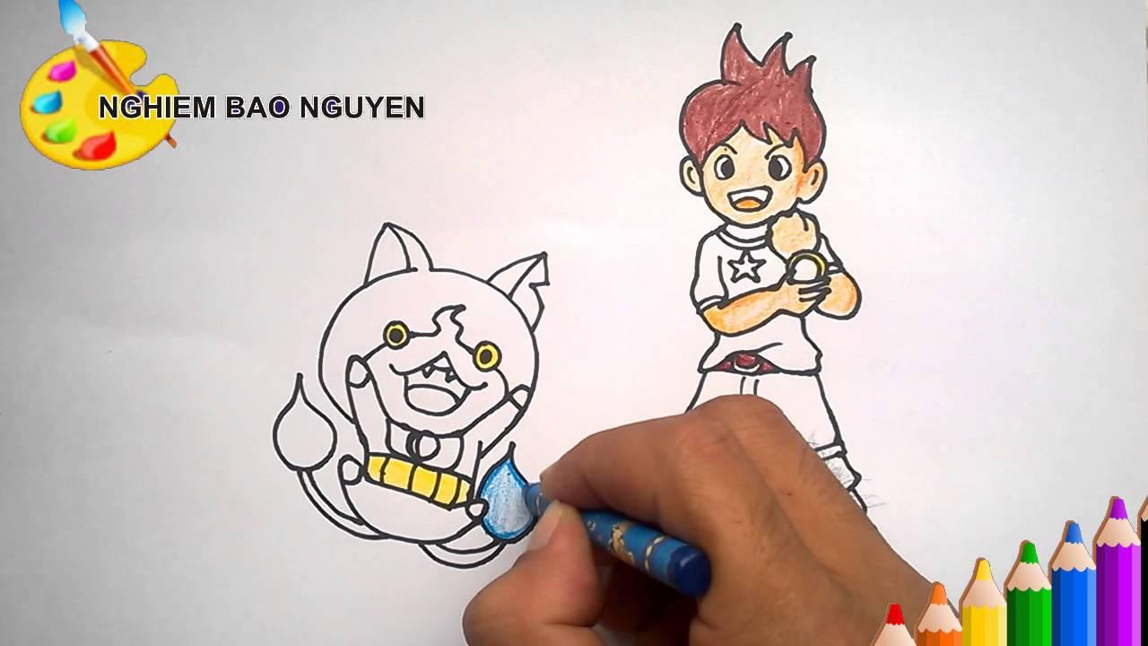 Vẽ tranh Yo-kai Watch / Как рисовать Yo-kai Watch