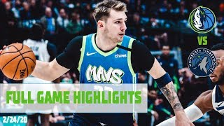 Luka Doncic (20 Points, 7 Assists) Highlights vs. Minnesota Timberwolves