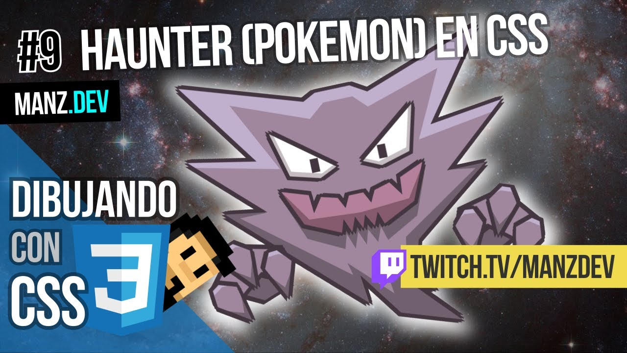 Dibujando a Haunter (Pokémon) con CSS
