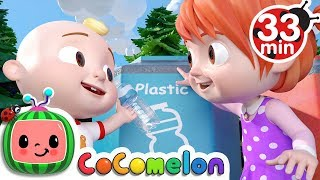 The Clean Up Trash Song | +More Nursery Rhymes - Cocomelon (ABCkidTV)