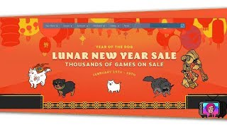 "📺 ""LUNAR NEW YEAR STEAM SALE"" Live Browse & Buy! YEAR OF THE DOG! 2018"