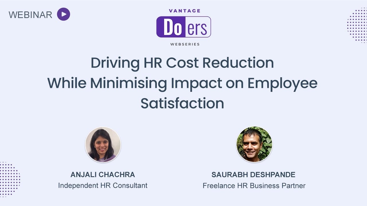 Driving HR Cost Reduction while Minimising Impact on Employee Satisfaction