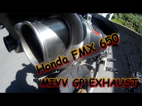 Honda FMX 650 MIVV GP Exhaust Soundcheck
