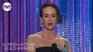 сериал Американская история ужасов, Sarah Paulson: Acceptance Speech | 23rd Annual SAG Awards | TNT