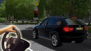 City Car Driving 1.5.6. - BMW X5 M ездим от первого лица в реальной жизни)