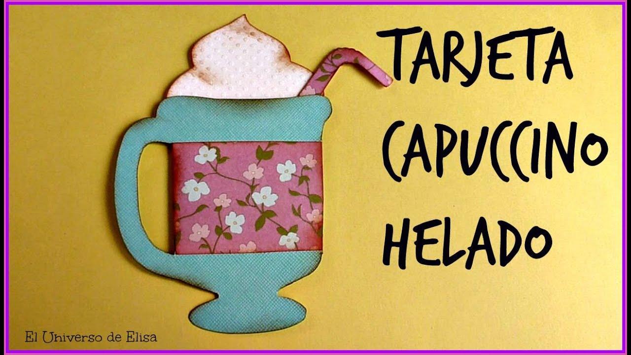 Cómo hacer una Tarjeta para Regalar, Manualidades para el Verano, Tarjeta Capuccino Helado,