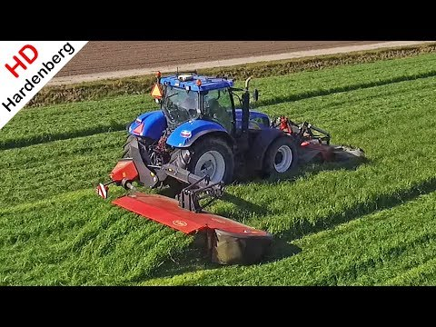 Mowing grass 2018 | New Holland T6080 + Vicon Extra 736T | Gras maaien in de Flevopolder.