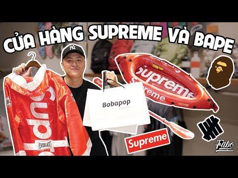 Shopping Tại Cửa Hàng Supreme/ Bape   Bobapop Collection