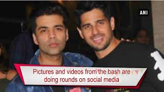 See pics! Sidharth celebrates his 33rd birthday with mentor Karan Johar
