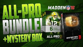 Madden 16 Ultimate Team ALL PRO BUNDLE OPENING with MYSTERY BOX OPENING on MUT 16!