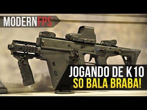AU MODERN FPS | JOGANDO COM A K10 - ANIQUILADORA!