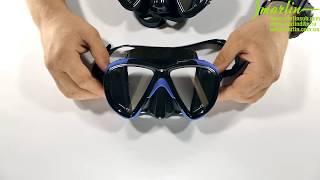 Маска для плавания Marlin TWIST Black blue от компании МагазинCalipso dive shop - видео